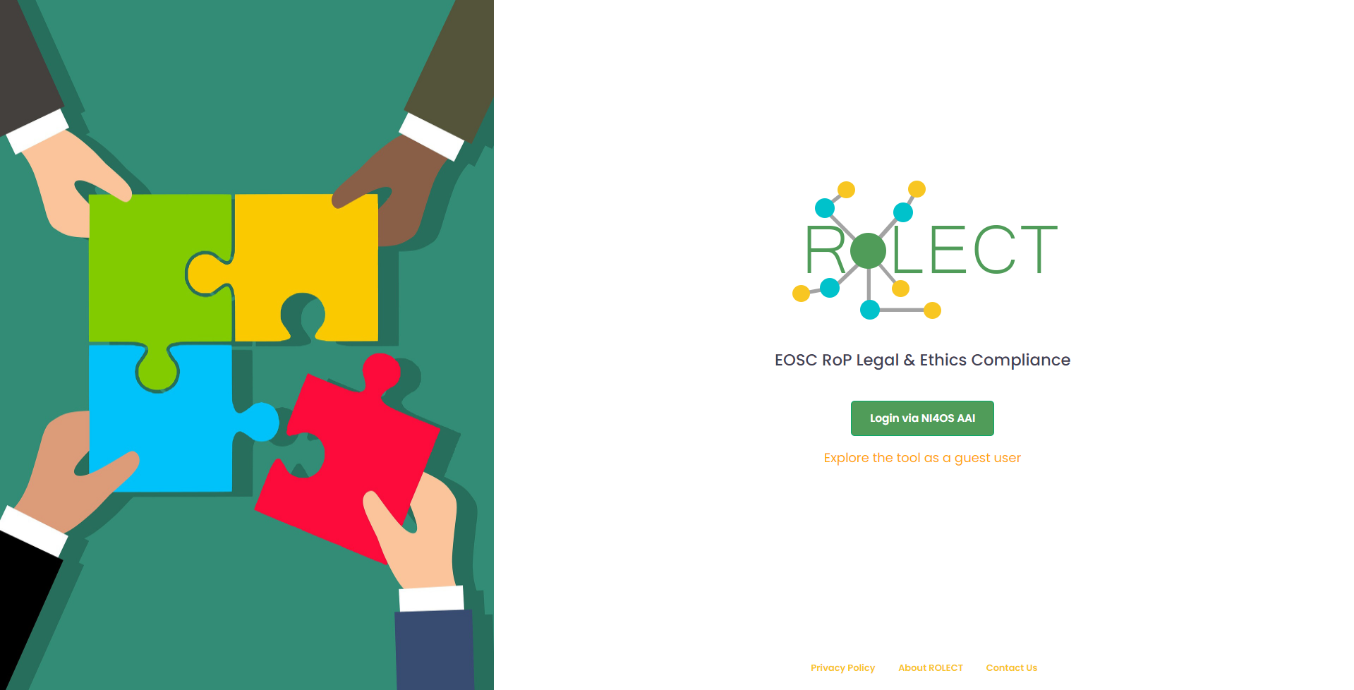 RoLECT landing page